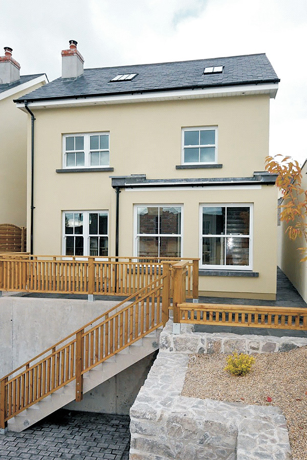 contemporary new build lough house niall linehan construction services