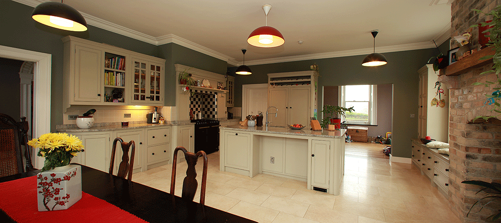 Innishannon period new build - family kitchen and play area