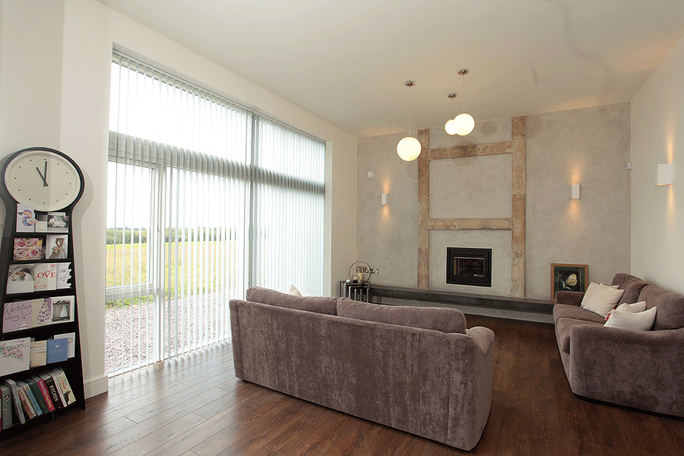lounge in newly built one off house telplemartin west cork