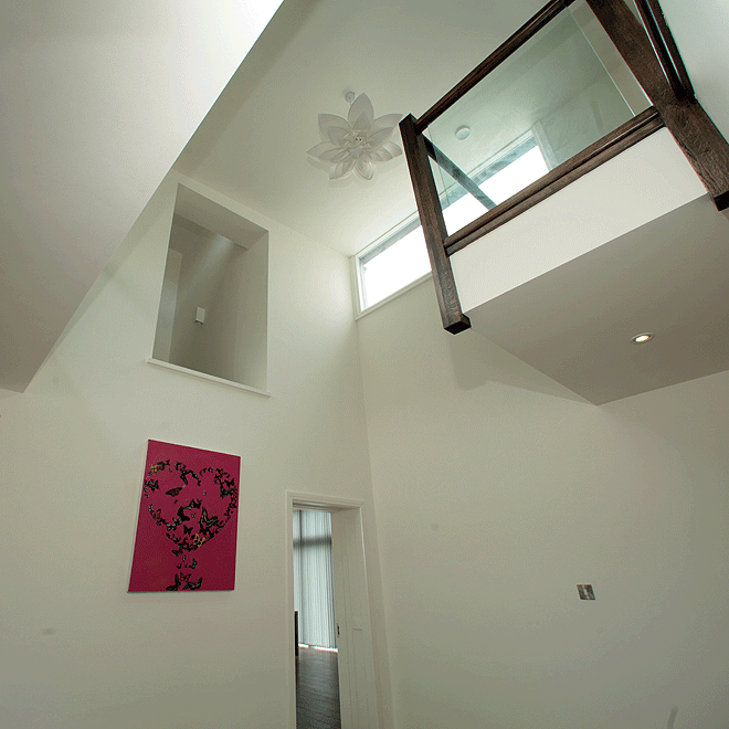 double height entrance hall new house linehan construction cork
