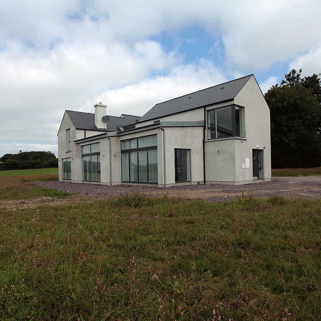 rere elevation niall linehan construction contemporary new build west cork