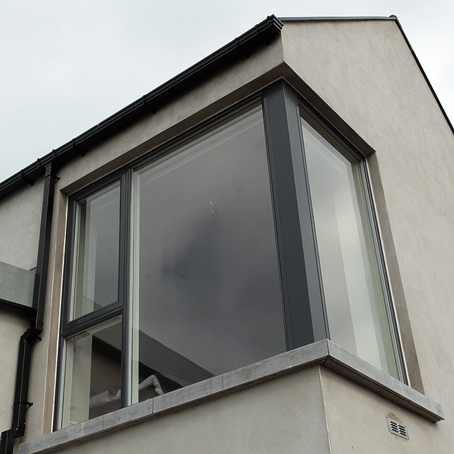 corner window contemporary new built house west cork