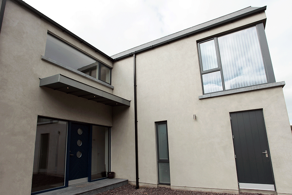 niall linehan construction templemartin contemporary new build entrance