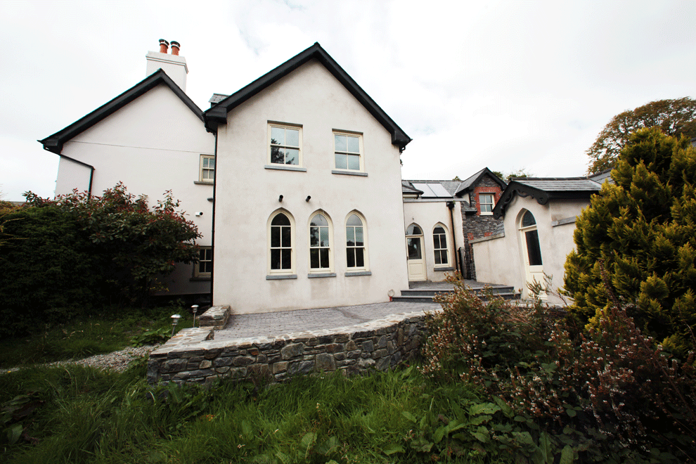 niall linehan construction restoration and refurbishment at the old parsonage drimoleague county cork rere elevation