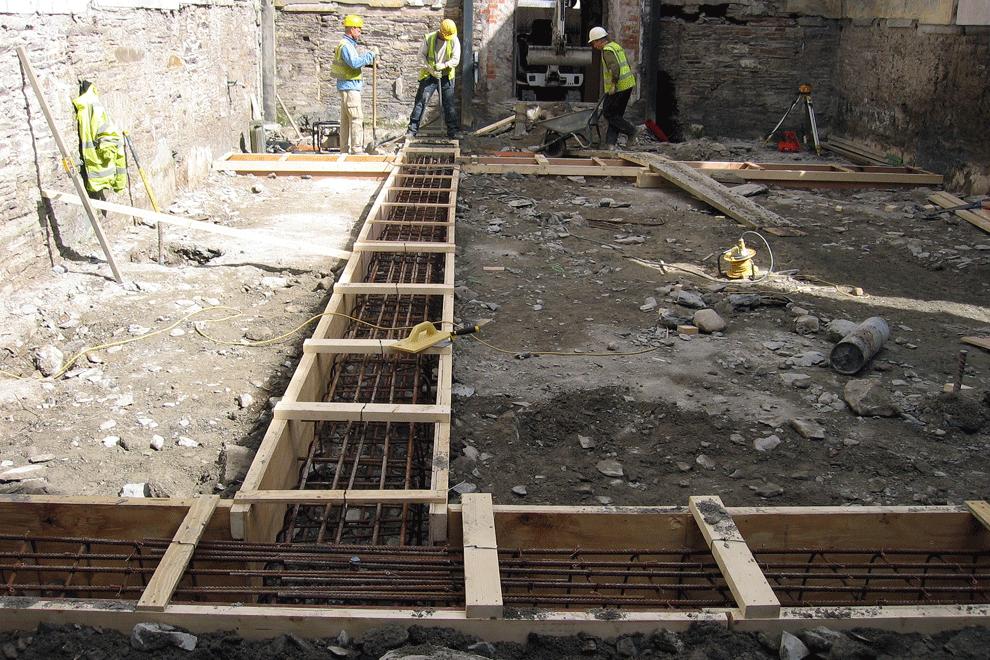 The-Church-Restaurant-Skibereen reconstruction installing Ring-Beam