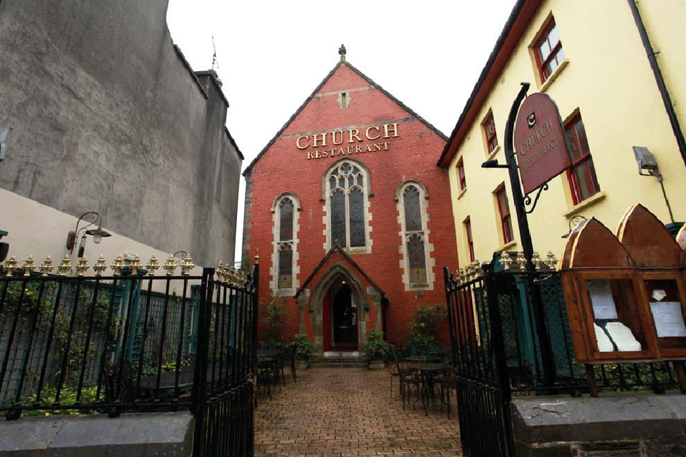 church-restaurant-exterior-after-reconstruction by niall linehan construction cork
